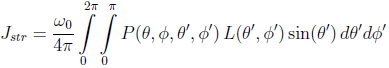 Radiative transfer equation